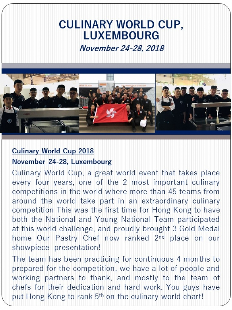 2018 Culinary World Cup at Luxemboourg