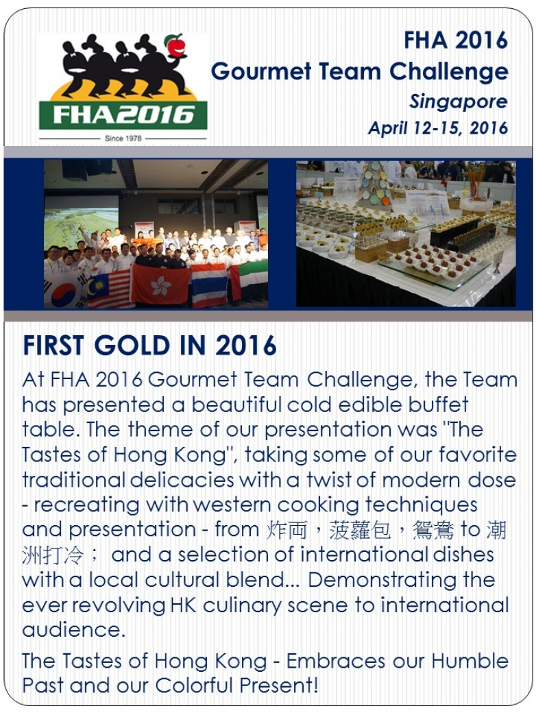 FHA 2016 - First Gold in 2016