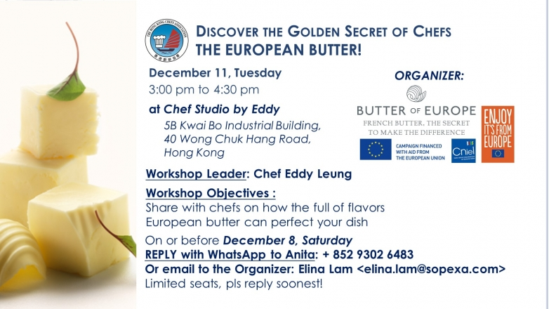 European Butter Workshop - Discover the Golden Secret of Chefs