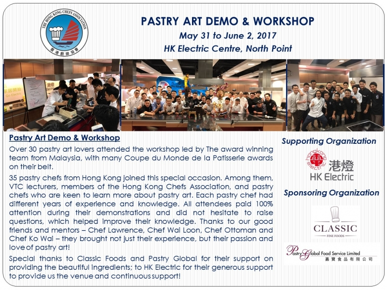 Pastry Art Demo & Workshop